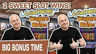 Lightning Link: 2 SWEET SLOT WINS!  This Is Why I LOVE Dragon's Riches
