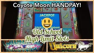 Slotting to the Oldies! Coyote Moon Handpay Jackpot + Other Classic High Limit Slots!