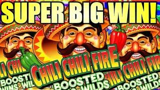 SUPER BIG WIN! THESE CHILIS WERE ON FIRE!!!  CHILI CHILI FIRE BOOSTED WINS & WILDS! (Konami Gaming)