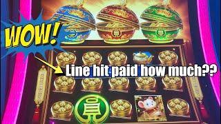 LINE HIT JACKPOT HANDPAY ON COIN COMBO + Big wins on Ultra Hot Mega Link