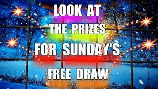 Wow..Look what prizes we have for Sunday Draw.....more chances of prize on other scratchcard game