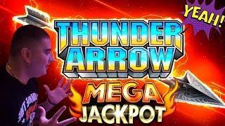 High Limit Thunder Arrow Slot Machine BIG HANDPAY JACKPOT   High Limit Konami Slot HANDPAY JACKPOT