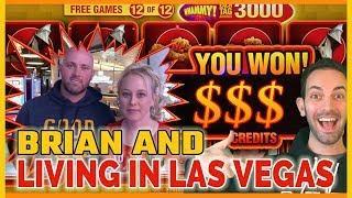 Brian Gambles with LIVING IN LAS VEGAS!   Slot Machine Pokies w Brian Christopher