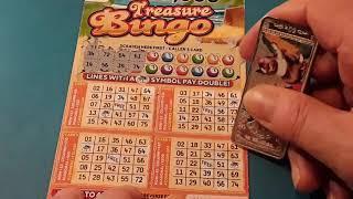 TREASURE  BINGO Scratchcard and BONUS Card.. on our.. One Card Wonder Game..mmmmmmMMM