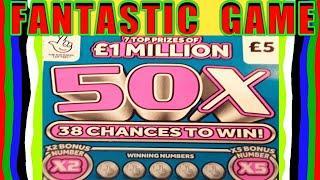 "FANTASTIC SCRATCHCARD GAME.. £50X CASH..  ""JUNGLE JACKPOT..REDHOT BINGO..WONDERLINES..£20,000 Month"
