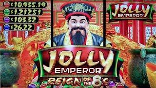 BONUS FRENZY on NEW GAME - JOLLY EMPEROR SLOT POKIE BONUSES & FEATURES