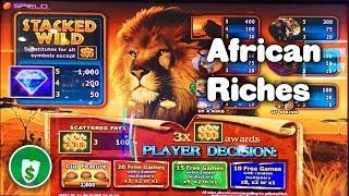 African Riches slot machine, 2 sessions, bonus