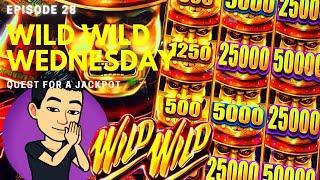WILD WILD WEDNESDAY! QUEST FOR A JACKPOT [EP 28]  WILD WILD SAMURAI Slot Machine (Aristocrat)