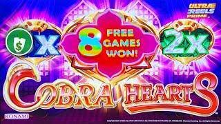 Cobra Hearts slot machine, 2 sessions, bonus