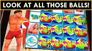 BACK TO BACK SPIN SUCCESS ON MULTIPLE SLOTS w/BALLS! BAYWATCH SLOT, DRAGON LINK SLOT MACHINE! QH!