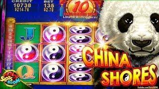 CHINA SHORES BONUS!!!! Xtra Reward BIG HIT 2c Konami Slot machine