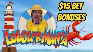 WINNER WINNER LOBSTER DINNER! $15 BET BONUSES LUCKY LARRY'S LOBSTERMANIA
