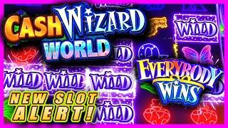 EVERYBODY WINS!  NEW SLOT MACHINE!  CASH SPIN WORLD  LIVE PLAY & BONUSES