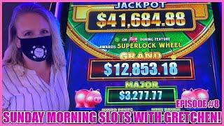 SUPERLOCK Lock It Link Piggy Bankin' Slot Machine SUNDAY MORNING SLOTS WITH GRETCHEN EPISODE #8