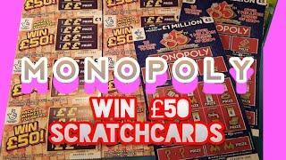 SCRABBLE CASHWORD. Monopoly..£500,000 Red..Dough Money..WIN £50..CASH MATCH