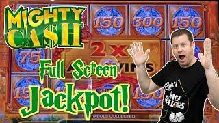 Mighty Cash Jackpot - The Dragon Roars a Full Screen Double Up Jackpot Win!