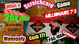 •Winner.Scratchcards•MONOPOLY•CASH 777•MILLIONAIRE 7's•(LIKES 4 •more night classic videos)