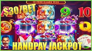 HIGH LIMIT Lock It Link Hold Onto Your Hat HANDPAY JACKPOT $30 Max Bet Bonus Slot Machine Casino