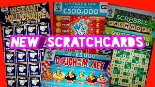 NEW Scratchcards New Scrabble Cashword..New 1/2Million £2 card.INSTANT  MILLIONAIRE