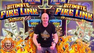 ULTIMATE FIRE LINK DOESN'T STAND A CHANCE! Double BIG Bonus Jackpots!