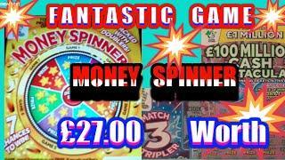 FANTASTIC  Scratchcard Game..MONEY SPINNER..MATCH 3 TRIPLER..777s..Luxury Lines..CASHWORD.Royal 7s..