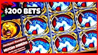 INSANE $200 BETS/ ENCHANTED UNICORN SLOT JACKPOTS/ HIGH LIMIT BIG BETS/ BONUS GAMES/ LIMITE ALTO