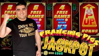 PRANCING PIGS Slot HANDPAY JACKPOT ! $1,000 Challenge To Beat The Casino | EP-28