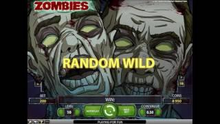 Zombies slot from NetEnt - Gameplay