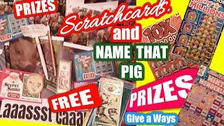 Scratchcards.£250,000.Blue..BEE LUCKY.10X.M/Millions...and PRIZES..10 Prizes to Give away