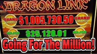 $1,000,000 Dragon Link Grand Jackpot Challenge  Live High Limit Slots at Hard Rock Tampa!