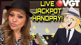 VGT JACKPOT HANDPAY CAUGHT LIVE! VGT SUNDAY FUN'DAY WELCOMES A HANDPAY ON MR MONEY BAGS!