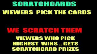 SCRATCHCARDS..FUN & GAMES .VIEWERS  CAN PICK 5HE CARDS