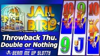 Jail Bird Slot - TBT Double or Nothing with Mr. Cashman Features