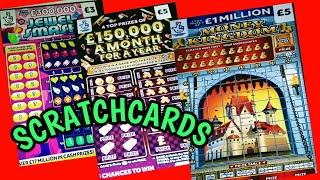 "SCRATCHCARDS...MONOPOLY..GOLD 7s""JEWEL SMASH""CASHWORD""CASH 7s..SPIN £100..MONEY KINGDOM"