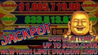 HIGH LIMIT Dragon Link Happy & Prosperous HANDPAY JACKPOT $50 Bonus Slot Machine W/ UP TO $250 SPINS