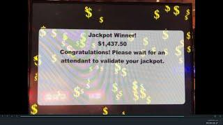"""""""LIVE JACKPOT"""" VGT Slots """"The Hunt for Neptune's Gold JB Elah Slot Channel Choctaw Casino, Durant"""