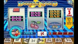 [DOUBLE GOLD SLOTS GAMEPLAY]  'WGS (FORMERLY VEGAS TECHNOLOGY) GAMING'    PLAYSLOTS4REALMONEY