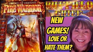 Love or Hate? New Games! Sword of Destiny Fire Warrior & Buffalo Chief Bonuses
