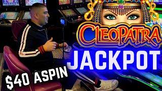 JACKPOT HANDPAY On High Limit Cleopatra 2 Slot ! Las Vegas Casino JACKPOT