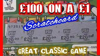 £60.00 worth of Cards..What a Fantastic classic Game.and SUPER Win.£100 Win on a £1 Scratchcard.WOW!