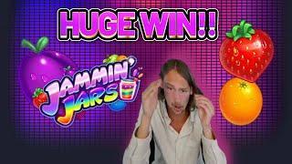 HUGE WIN! JAMMIN JARS BIG WIN - €6 bet on CASINO Slot from CasinoDaddys LIVE STREAM