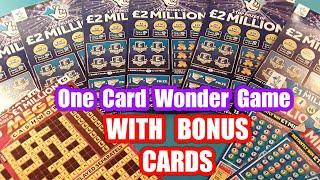 """£2 MILLION BIG DADDY Scratchcard.& Bonus cards.One Card Wonder Game......don't forget to""""Like""""says"""