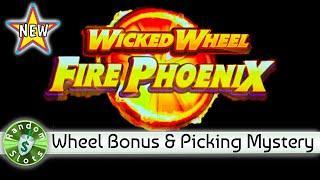 ️ New - Wicked Wheel Fire Phoenix slot machine, Progressive and Wheel Bonuses