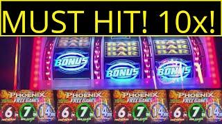10x BONUS JUST SITTING THERE!! WHY WOULD ANYONE LEAVE THIS??LEGEND OF PHOENIX SLOT MACHINE!