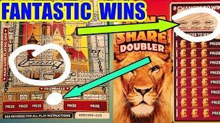 FANTASTIC GAME...FANTASTIC WINS..MONEY KINGDOM..LION DOUBLER..CASHWORD...£100 BONUS SCRATCHCARDS