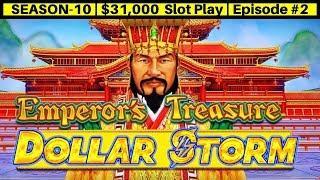 Dollar Storm EMPEROR's Treasure Slot Machine Live Play & Bonus | Season 10 | Episode #2