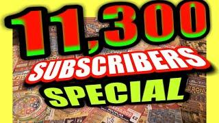 """Wow.11,300.SUBSCRIBERS SPECIAL.£120 SCRATCHCARDS""""FRUITY £500""""TRIPLE JACKPOT""""MONOPOLY""""EMERALD DOUBLER"""
