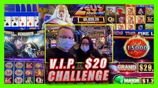 VIP $20 CHALLENGE MARCH 2021  LIVE SLOT PLAY AT THE COSMOPOLITAN LAS VEGAS  BIG WINS & VIDEO POKER