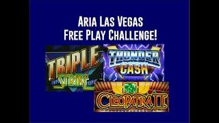 $1600 Free Play Challenge! High Limit Live Play! Cleo 2, Triple Strike and Thunder Cash!