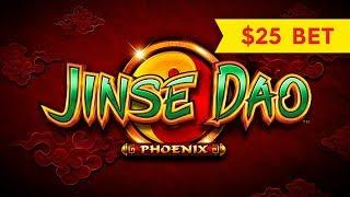 $25 MAX BET BONUS! Jinse Dao Phoenix Slot - HIGH LIMIT ACTION!